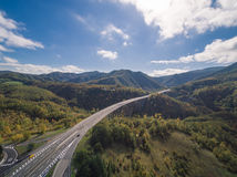 Итальянское шоссе, вид с воздуха стоковые фотографии rf
