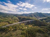 Итальянское шоссе, вид с воздуха стоковые изображения rf