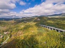 Итальянское шоссе, вид с воздуха стоковая фотография