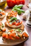 Итальянское bruschetta закуски Стоковое Изображение RF