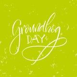 литерность День Groundhog Стоковые Фотографии RF