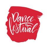 литерность Фраза: ` Фестиваля танца ` Стоковые Фотографии RF