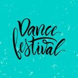 литерность Фраза: ` Фестиваля танца ` Стоковое Изображение RF