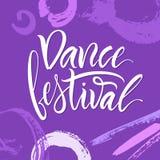 литерность Фраза: ` Фестиваля танца ` Стоковые Изображения RF