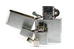 3 лихтера при раскрытая крышка Стоковые Изображения RF