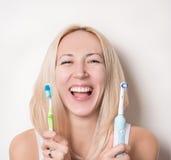 личная зубоврачебная гигиена Стоковые Изображения