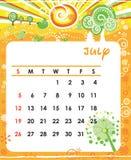 июль Стоковые Изображения
