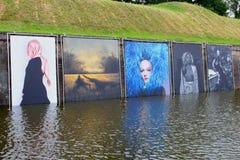 Июнь 2019, холст печатает фестиваль Naarden возлагая, Netherlanfs фото стоковая фотография rf