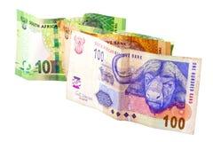 100 20 и 2 бумажных денег десяток южно-африканских Стоковое фото RF