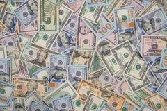 100, 50 и 20 долларовых банкнот Стоковое Изображение