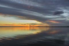 Идеальный заход солнца Стоковое Фото