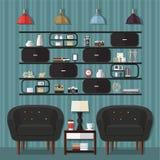 Идеи дизайна живущей комнаты Стоковое Фото