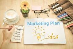 Идеи маркетингового плана думают концепция Стоковые Фото