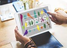 Идеи создают творческую концепцию мыслей творческих способностей Стоковая Фотография RF