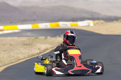 Идет гонщик Kart Стоковые Изображения RF
