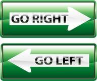 идет зеленое право Стоковое Изображение RF