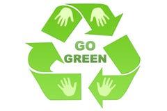идет зеленый цвет Стоковое Фото