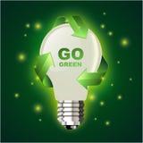 идет зеленая иллюстрация Стоковая Фотография RF