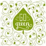 Идет зеленая иллюстрация doodle Бесплатная Иллюстрация