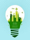 Идет зеленая принципиальная схема идеи города Стоковые Изображения RF