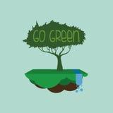Идет зеленый дизайн Стоковое Фото