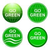 идет зеленый цвет рециркулирует Стоковое Фото