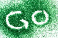 идет зеленый цвет рециркулирует Стоковое Изображение RF