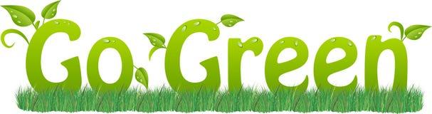 идет зеленый цвет рециркулирует Стоковые Изображения RF