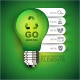Идет зеленый шаблон Infographic Стоковая Фотография RF