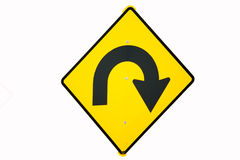 Идет назад дирекционный изолированный знак Стоковое Изображение RF