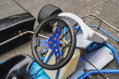Идет рулевое колесо kart стоковое фото rf