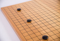 Идет, японская настольная игра стоковое фото rf