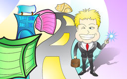 Идея бизнесмена новая стоковое фото rf