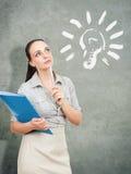 Идея бизнес-леди стоковое изображение