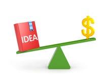 Идея важнее чем деньги иллюстрация вектора