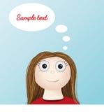 Идея женщины девушки думая умная Стоковое Изображение RF