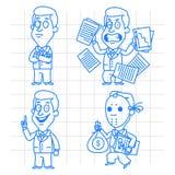 Идея и гнев бизнесмена Doodle Стоковые Фотографии RF
