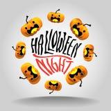 Идея иллюстрации вектора дизайна хеллоуина Стоковые Фотографии RF