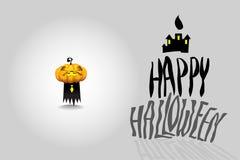 Идея иллюстрации вектора дизайна хеллоуина Стоковые Изображения RF