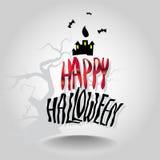 Идея иллюстрации вектора дизайна хеллоуина Стоковое Фото