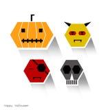 Идея иллюстрации вектора хеллоуина Стоковая Фотография RF