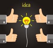 Идея концепции - управление одобряет идею Стоковое Фото