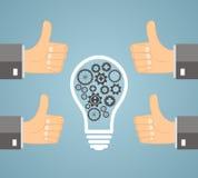 Идея концепции - управление одобряет идею Стоковые Фотографии RF