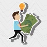 идея кредитной карточки человека Стоковое Изображение RF