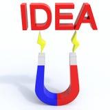 Идея магнита Стоковые Фото