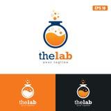 Идея логотипа лаборатории/логотипа дела дизайна вектора значка Стоковые Фото