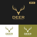 Идея логотипа оленей/логотипа дела дизайна вектора значка Стоковое Изображение RF