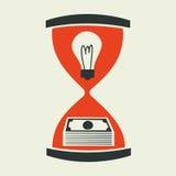 Идея принципиальная схема денег Стоковая Фотография RF