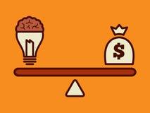 Идея принципиальная схема денег Стоковое Изображение RF