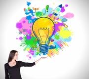 идея принципиальной схемы творческая Стоковые Изображения RF